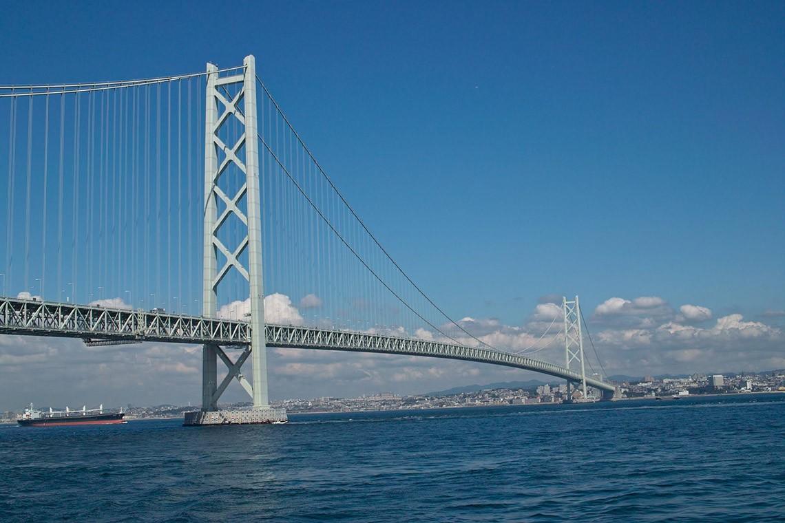 Висячий мост с самым длинным пролетом в мире