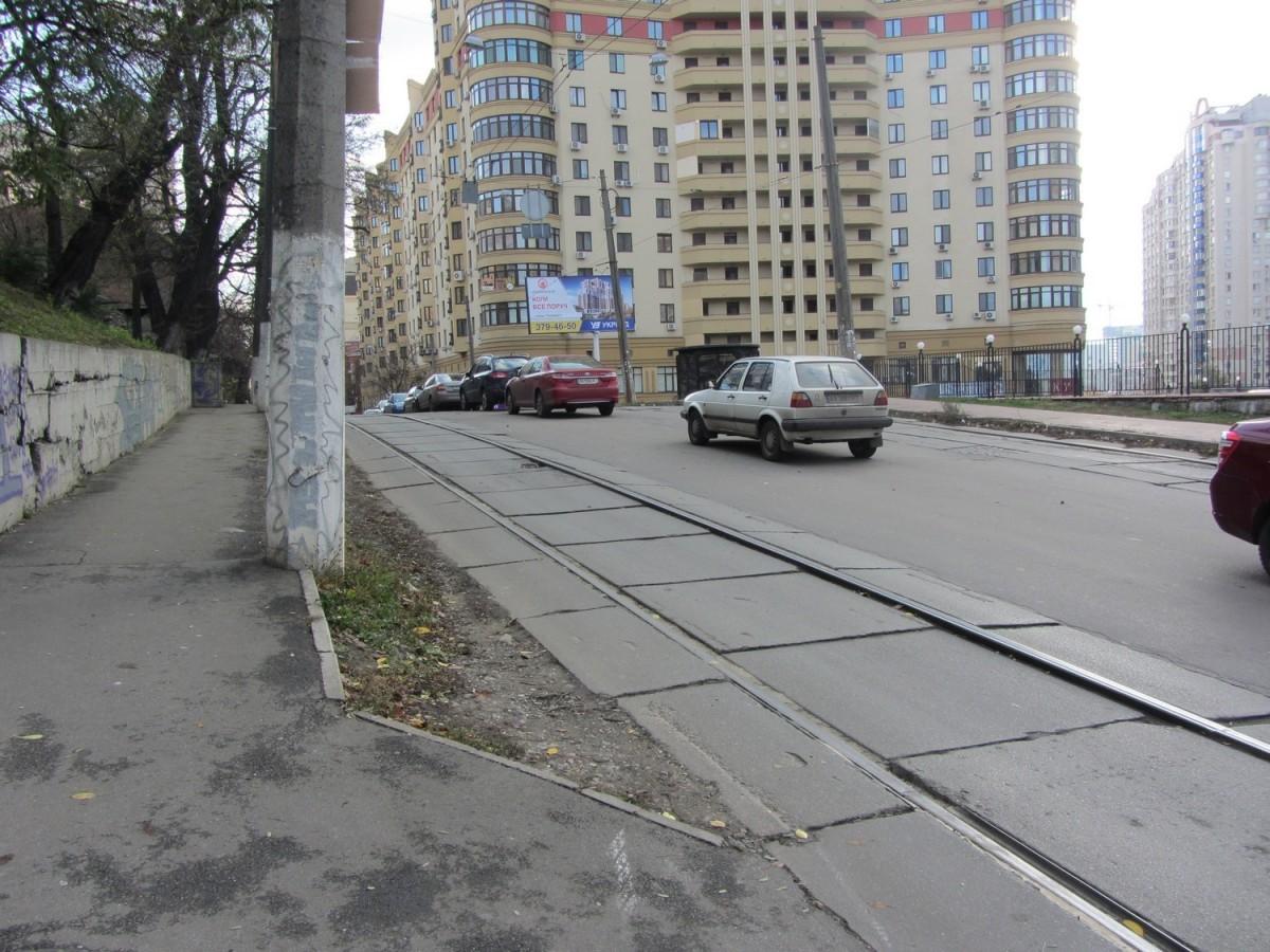 Реконструкція трамвайної лінії по вул. Дмитрівській у Шевченківському районі м.Києва