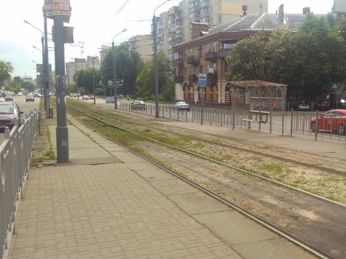 Реконструкция трамвайного пути на площади Шевченко на участке от улицы Автозаводской до улицы Пуща-Водицкая с разворотным кольцом